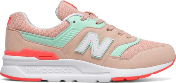 Różowe buty sportowe dziecięce New Balance sznurowane