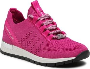 Różowe buty sportowe dziecięce Tom Tailor dla dziewczynek sznurowane