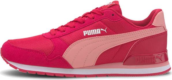 Różowe buty sportowe Puma ze skóry z płaską podeszwą