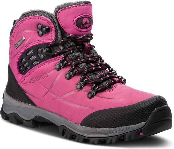 wylot RÓżowe buty trekkingowe Elbrus sznurowane z nubuku Buty Damskie Buty trekkingowe MV AHCTMV-6