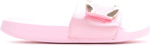 Różowe klapki Multu w stylu casual z płaską podeszwą