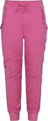 Różowe spodnie dziecięce Endo z dzianiny