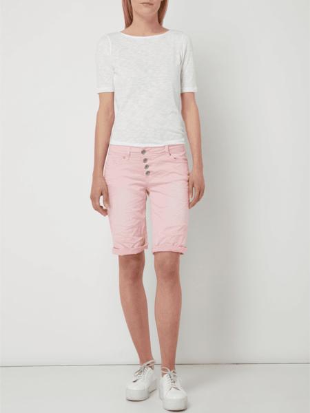 Różowe szorty Buena Vista w street stylu z jeansu