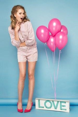 Różowe szorty La Folie w sportowym stylu z bawełny