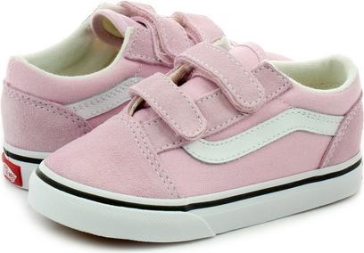 Różowe trampki dziecięce Vans na rzepy