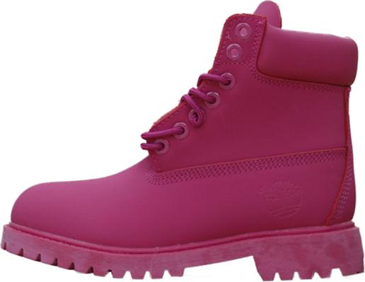 niska cena sprzedaży style mody autentyczna jakość Różowe trapery damskie Timberland z płaską podeszwą sznurowane