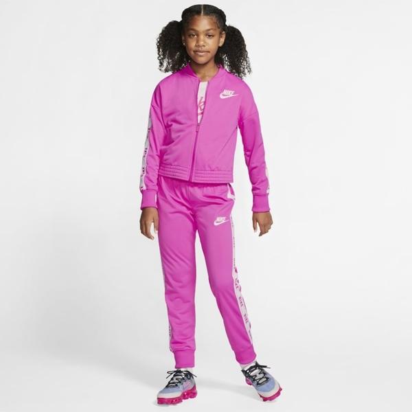 Różowy dres dziecięcy Nike z dzianiny
