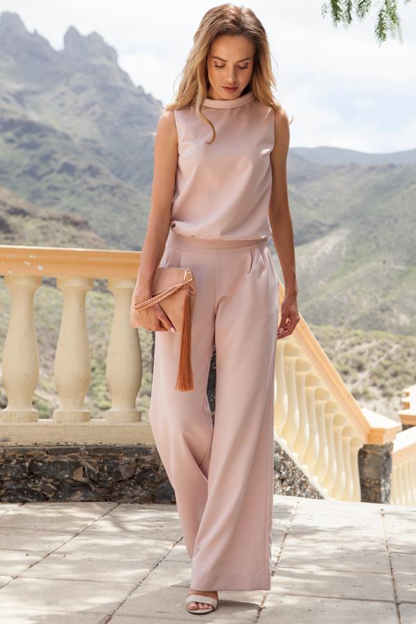 Różowy kombinezon MOE z długimi nogawkami