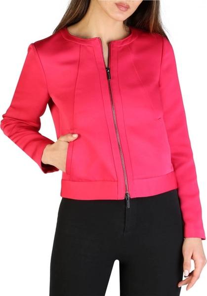 Różowy płaszcz Armani Exchange w stylu casual