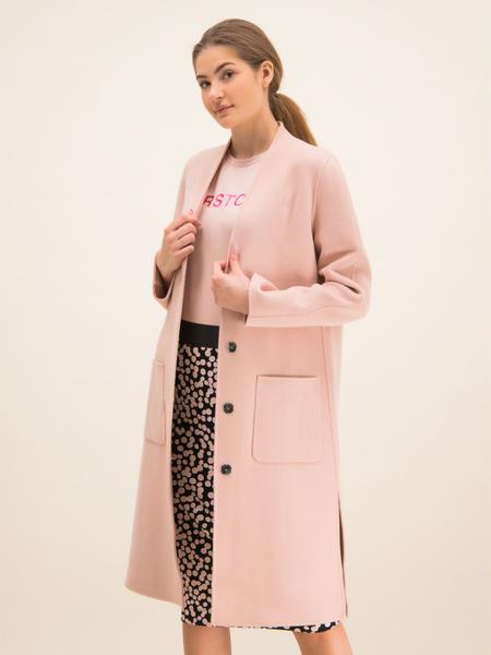 Różowy płaszcz Laurèl w stylu casual