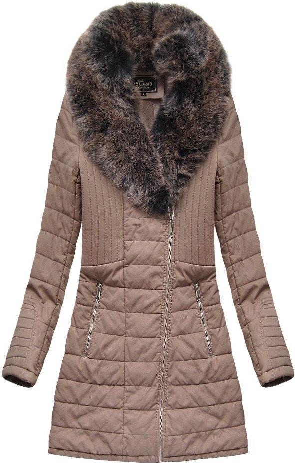 Różowy płaszcz Libland długa