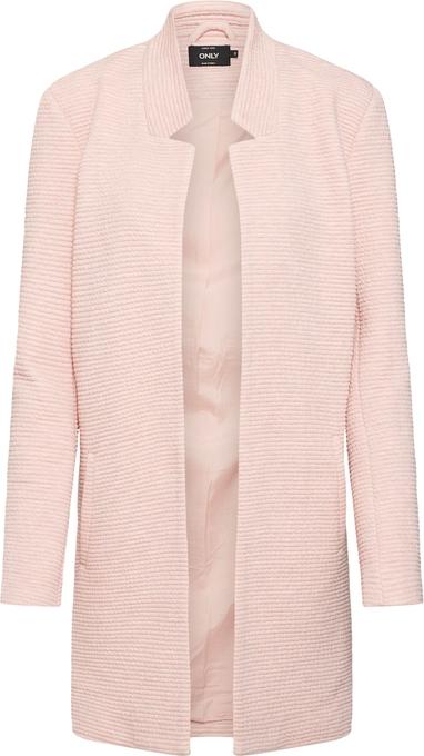Różowy płaszcz Only z tkaniny w stylu casual