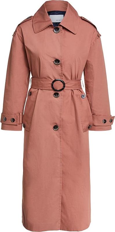 Różowy płaszcz OUI w stylu casual