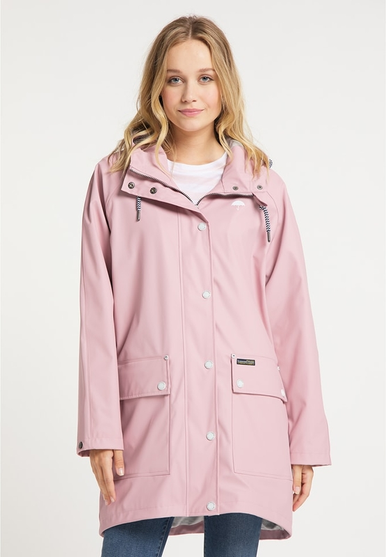 Różowy płaszcz Schmuddelwedda w stylu casual