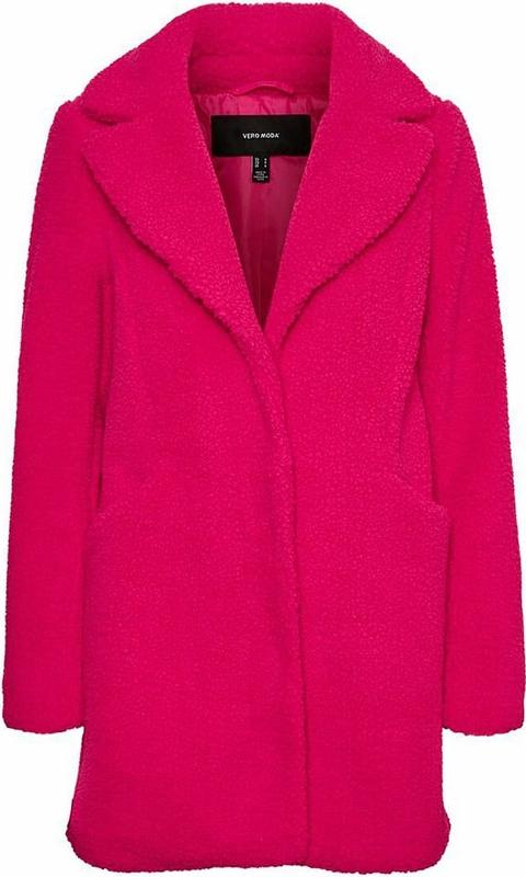 Różowy płaszcz Vero Moda w stylu casual