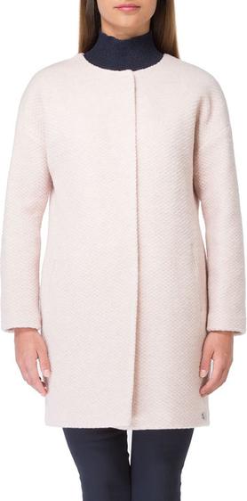 Różowy płaszcz Wittchen w stylu casual