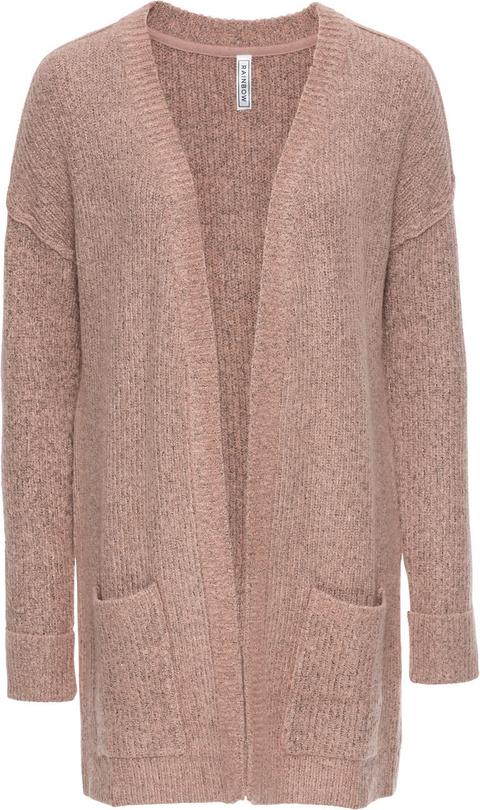 Różowy sweter bonprix rainbow
