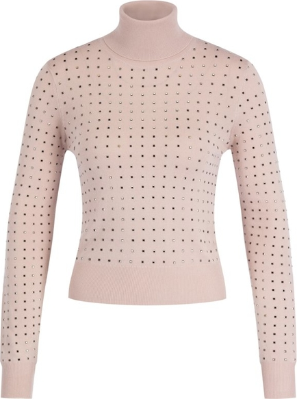 Różowy sweter Liu-Jo w stylu casual