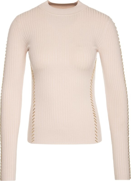 Różowy sweter Marciano w stylu casual