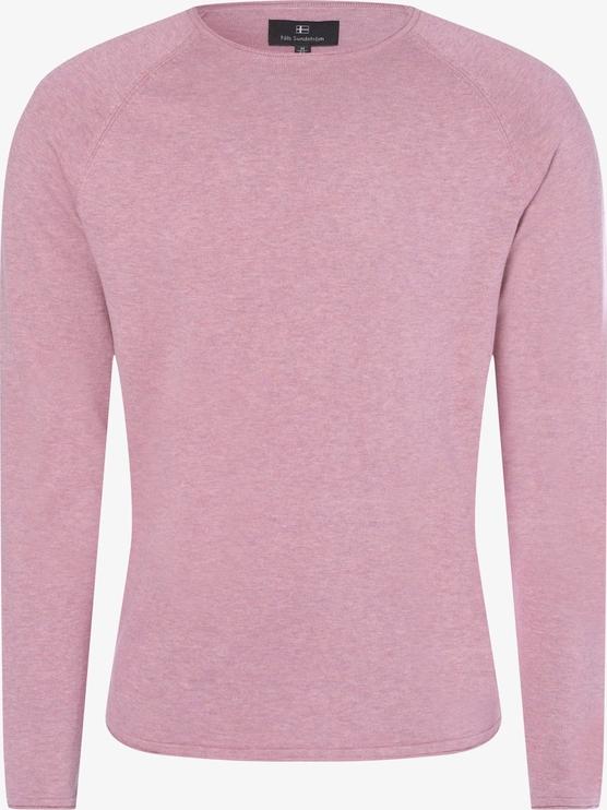 Różowy sweter Nils Sundström w stylu casual