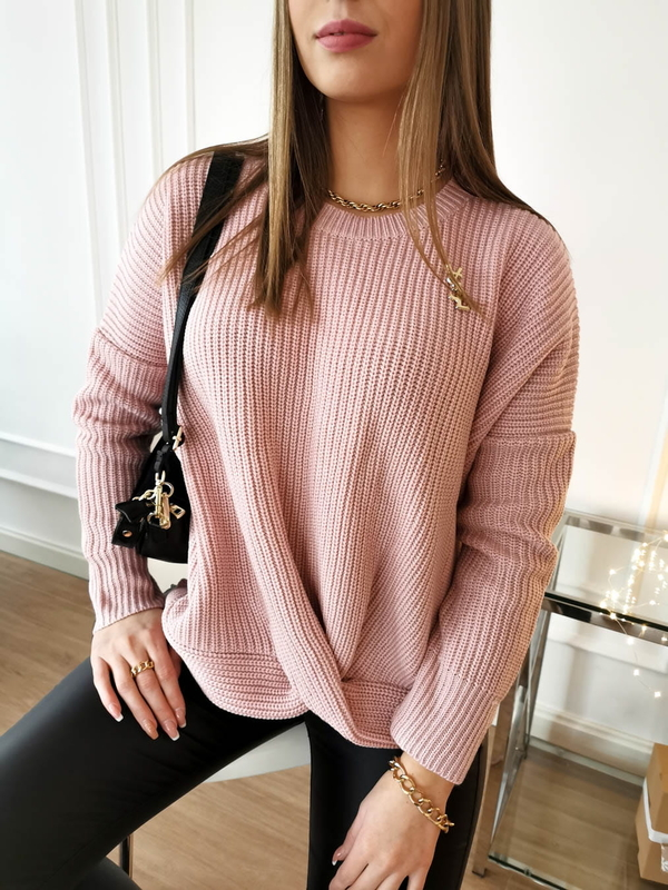 Różowy sweter Perfe.pl