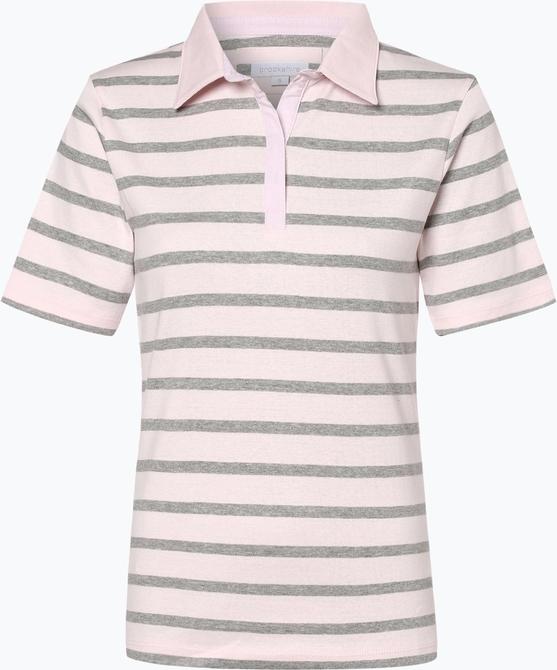 Różowy t-shirt brookshire w stylu casual