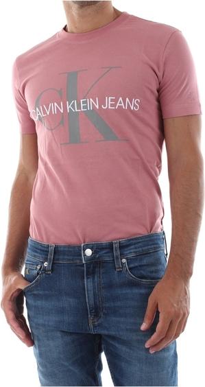 Różowy t-shirt Calvin Klein