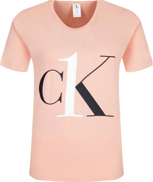 Różowy t-shirt Calvin Klein Underwear z bawełny z krótkim rękawem