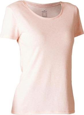 Różowy t-shirt Domyos z bawełny