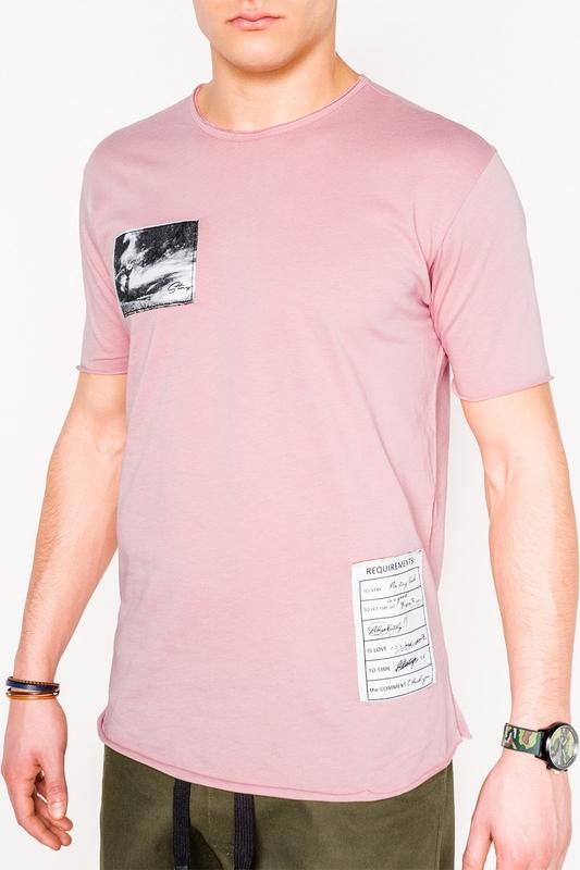 Różowy t-shirt Edoti