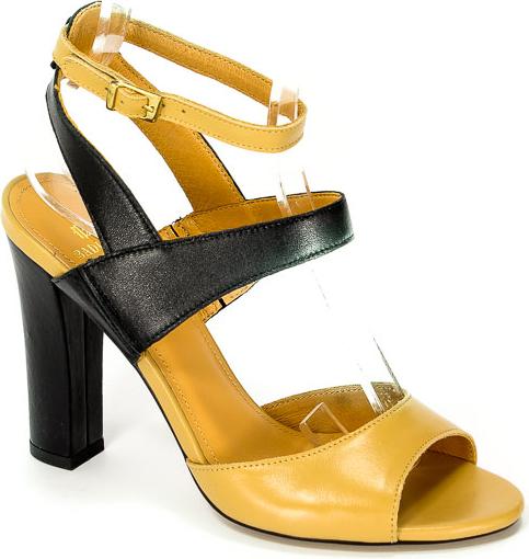 Sandały Badura z klamrami ze skóry
