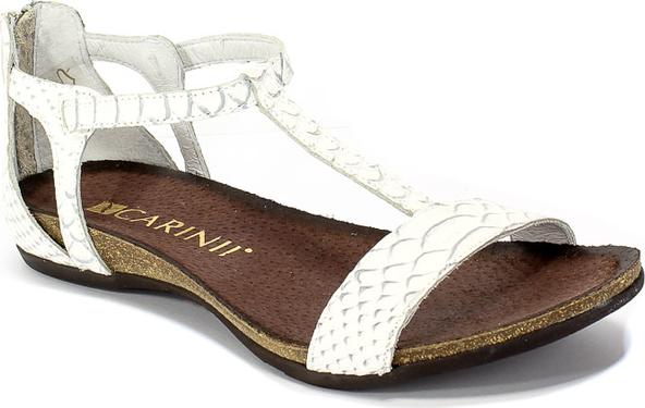 Sandały Carinii z płaską podeszwą ze skóry