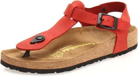 Sandały Comfortfusse z klamrami ze skóry