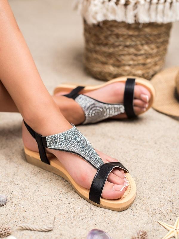 Sandały Czasnabuty w stylu casual z płaską podeszwą