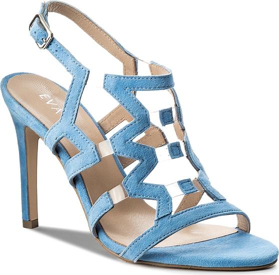 Sandały Eva Minge na szpilce na wysokim obcasie w stylu klasycznym