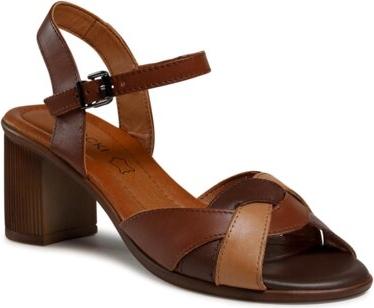 Sandały Lasocki na obcasie ze skóry