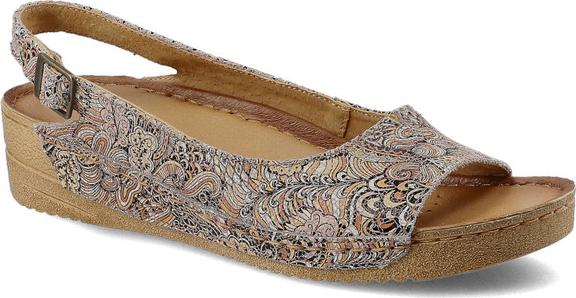 Sandały Maciejka z płaską podeszwą w stylu casual na średnim obcasie