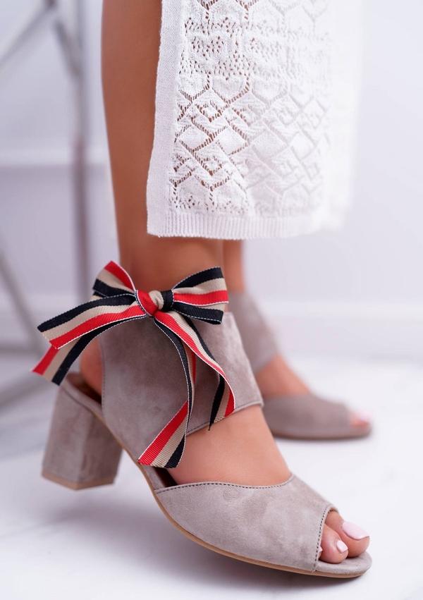 Sandały Maciejka z zamszu