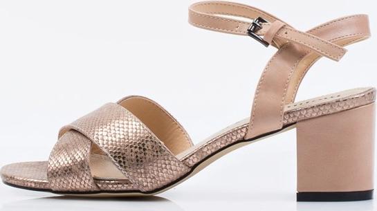 Brązowe sandały Monnari na niskim obcasie Buty Damskie