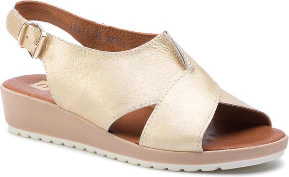 Sandały Nessi z klamrami ze skóry