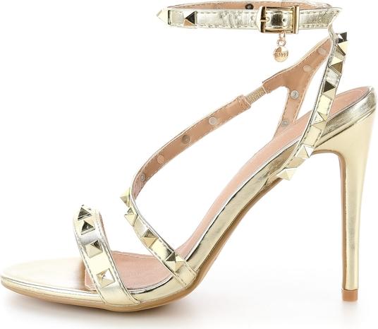 Sandały Prima Moda w rockowym stylu na szpilce z klamrami