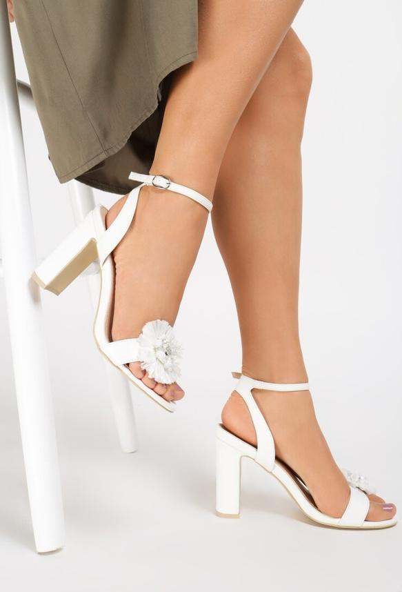 Sandały Renee na wysokim obcasie na słupku w stylu casual