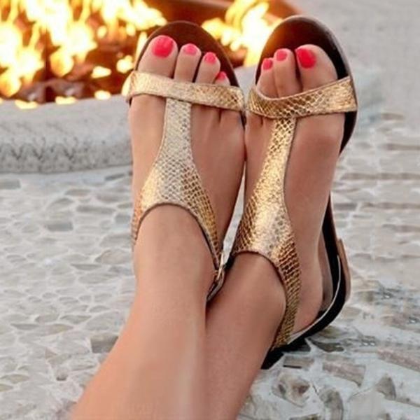 Sandały Sandbella z klamrami ze skóry ekologicznej
