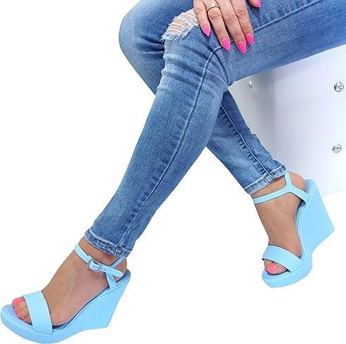 Sandały Vices na platformie ze skóry