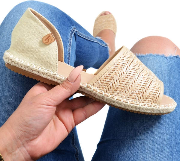 Sandały Vices z tkaniny w stylu retro