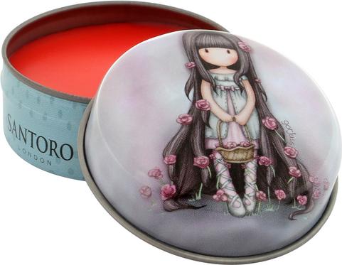 Santoro truskawkowy balsam do ust Gorjuss Rosie/Rosebud
