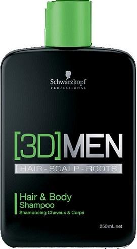 Schwarzkopf [3D] Hair & Body Shampoo | Szampon do włosów i ciała 250ml - Wysyłka w 24H!