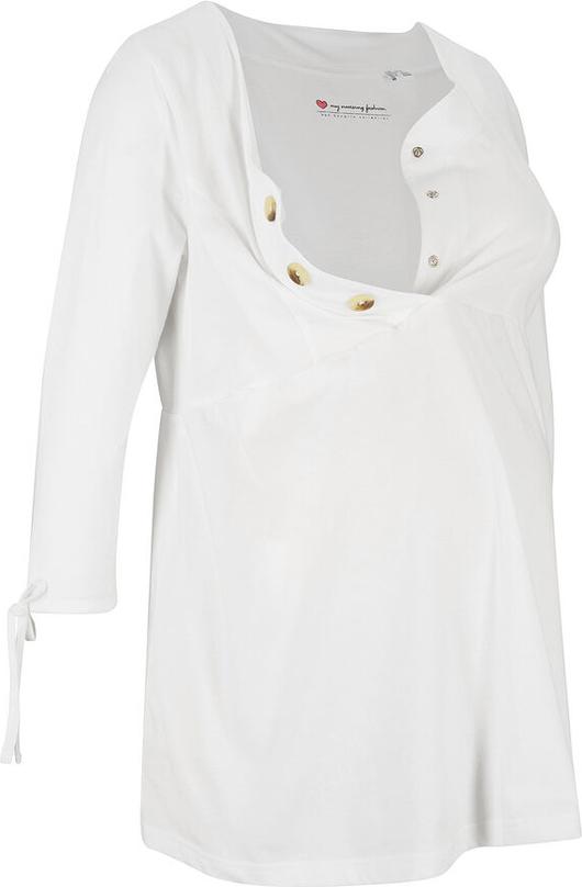 Shirt ciążowy i do karmienia piersią, bawełna organiczna | bonprix