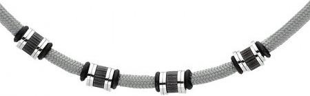 Silverado Minimalistyczny, szary naszyjnik męski ze sznurka bawełnianego 77-WA403S