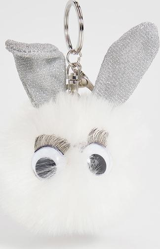 Sinsay - futrzany brelok - biały